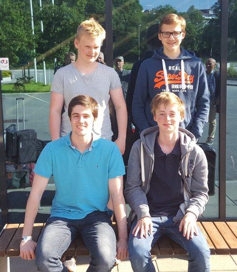 Andreas G. Tryggestad, Johannes Haug, Johan Salomon og Daniel Nordquelle er fire av de seks spillerne som representerer Nordstrand Sjakklubb i Europacupen i oktober.