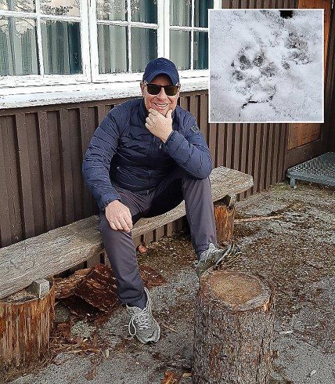 VILLMARKSMANN: Kurt-Erik Jenssen (53) tror han så spor etter ulv. Her er han avbildet på Gaupesteinhytta, ikke langt unna tråkket.
