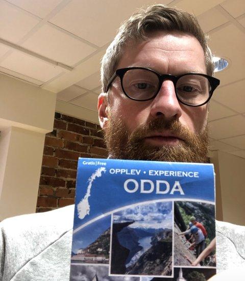 Har kommet hjem: Komikeren og skuespilleren Odda har endelig kommet «hjem» til Odda. Bildet er gjengitt med tillatelse.