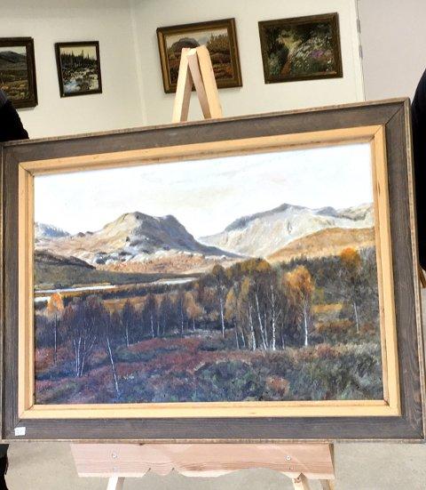 Valdresnatur: Et av Endre Ulvens malerier utstilt ved ei tidligere anledning.