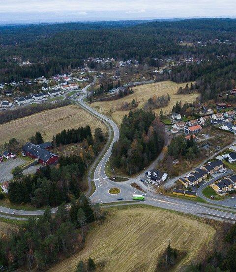 Dronebilder, Ytre Enebakk, Våglia