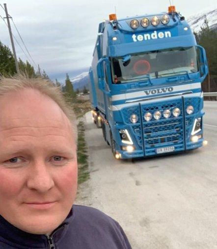 Geir Elling Nyland hadde en dramatisk tur mellom Stryn og Bismo onsdag kveld.