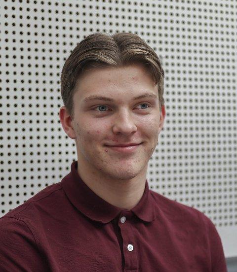 Lars Spernes (16) fra Ørje: – Ikke så mye. Ikke noe merkbart.