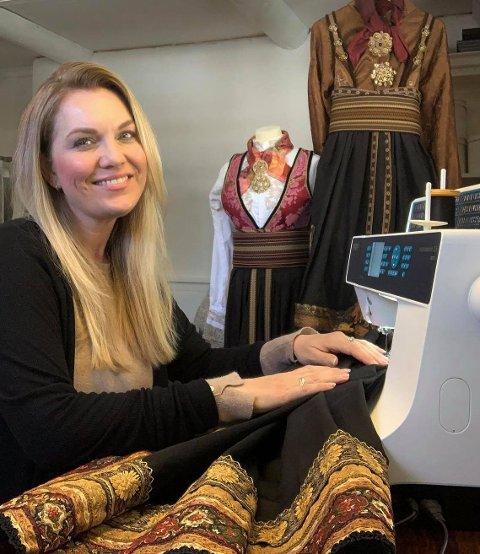 Heidi Winger sydde sin første bunad da hun var student.