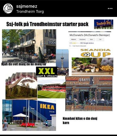 STARTPAKKE: Et eksempel på en startpakke for Sandnessjø-folk som er på Trondheims-tur, som kanskje mange vil kjenne seg igjen i.