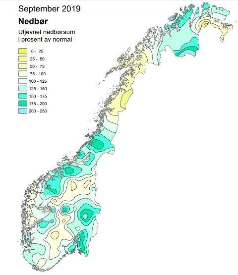 Det falt mye nedbør over Møre og Romsdal i løpet av september.