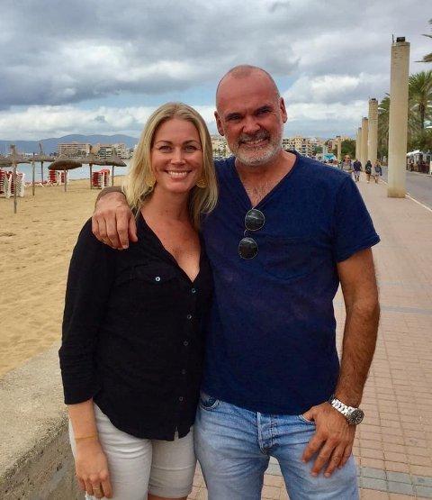Marianne Henriksen og Rune Lexberg på Mallorca hausten 2019. Foto: Lillehammer Osteopati AS