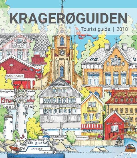 FORSIDEN: Slik ser forsiden ut på årets utgave av Kragerøguiden.