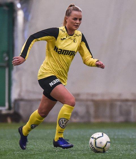 Mia Schjerve Giæver scoret 1-0-målet mot Hallingdal, men Raufoss måtte se seg slått i lørdagens kamp.