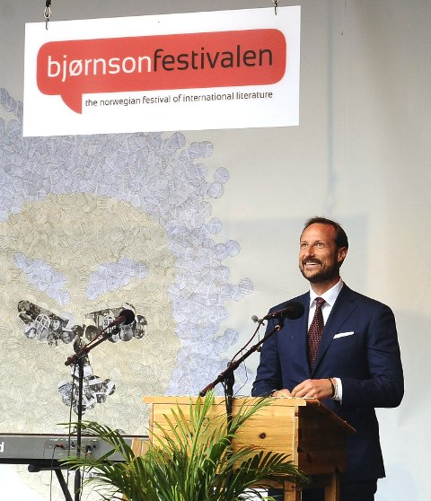 Åpnet: HKH Kronprins Haakon åpnet den 25. Bjørnsonfestivalen i Molde onsdag.