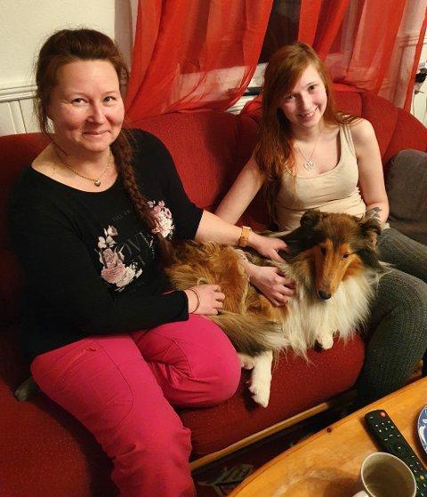 Lykkelige: Eier Lill Kristin Nilsen (t.v.) og Tiril Kildahl, som sammen med Dan-Robin Stemland hadde Cara på fór, er begge like lykkelige over at hunder er kommet til rette igjen.