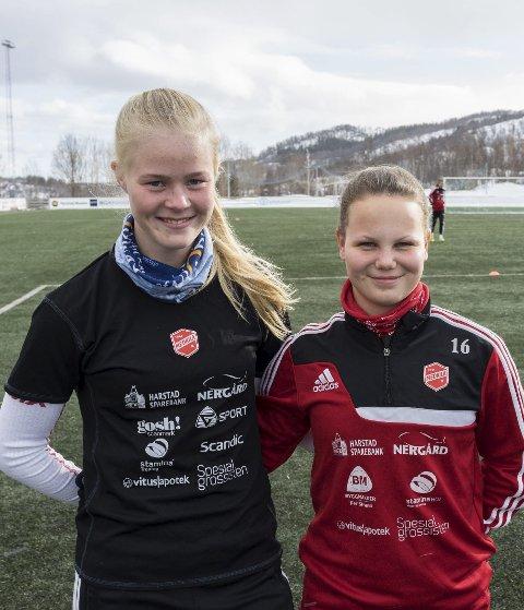 Katrine Winnem Jørgensen og Ida Fikseth Fossem spilte 90 minutter mot Avaldsnes.
