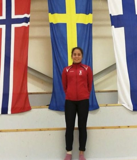 Representerte Norge: Nora Løkeng. foto: privat