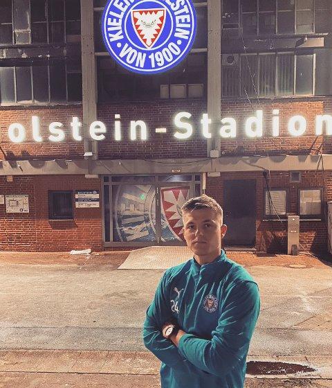 NY KLUBB: Marius Bustgaard Larsen fortsetter karrieren i Tyskland. Foto: Privat