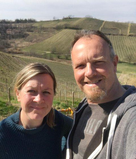 SATSET ALT: Trine Knudsen og Endre Solem fulgte drømmen og kjøpte egen vingård i Piemonte i Italia.