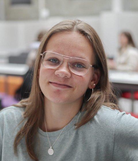 Stine Kristiansen-Haug (15) fra Eidsberg: – Nei.