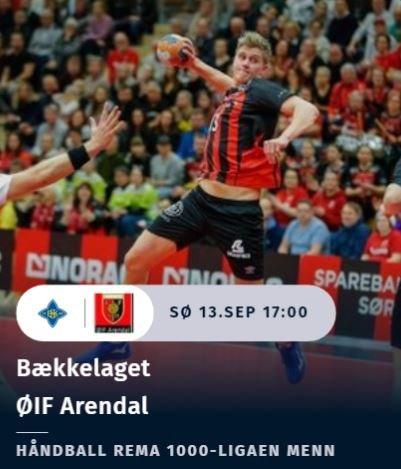 Følg eliteserien i håndball direkte hos oss, på PC, nettbrett eller mobilen. Neste kamp ØIF Arendal spiller er mot Bækkelaget søndag 13. september.
