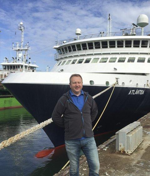 Atlantida: Maskinsjef Pål Åsheim var med da ferga ble vurdert kjøpt april 2015.
