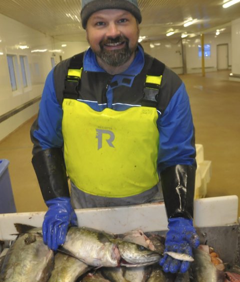 LYR:Øystein Angelsen slår fast at det var mest lyr i fangsten og at den beiter på hyseyngel. Alle foto: Kai Nikolaisen