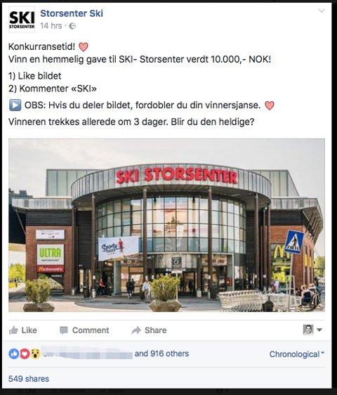 Dette er skjermdropp fra den falske Facebook-siden.