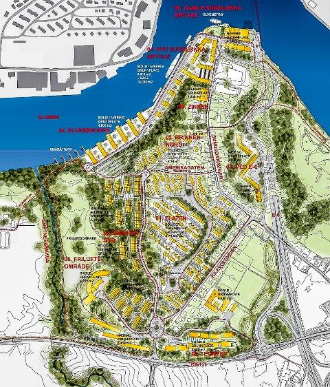 GIGANTPROSJEKT: Slik er utbyggingen på Gretnes planlagt. Det er et gigantprosjekt.
