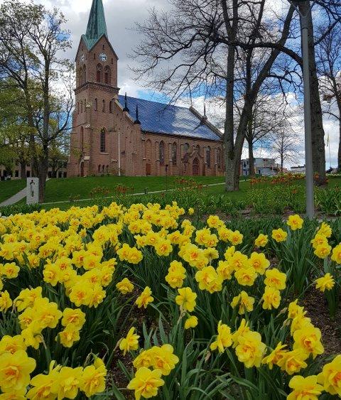 Astrid Ørebech har selv tatt bildet av det hun mener kan være Norges flotteste kirkepark.