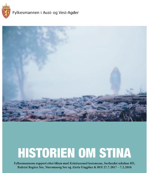 Forsiden på fylkesmannens rapport.