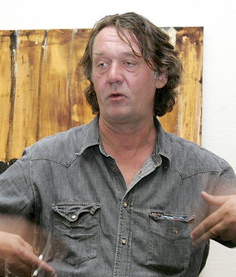 Kjell Nupen-grafikk i Galleri G Guddal i Rosendal.