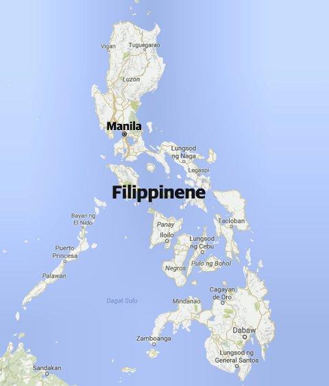 BOSATT i ANGELES: Angeles City ligger ca to timer i nordvestlig retning fra hovedstaden Manila. Kart: Google Maps