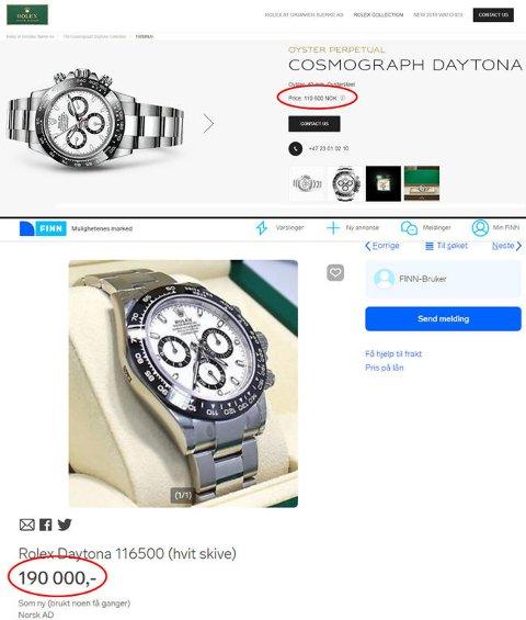 Vil du kjøpe ny til 110.000 kroner eller brukt til 190.000 kroner? (Urmarker Bjerke / Finn.no)