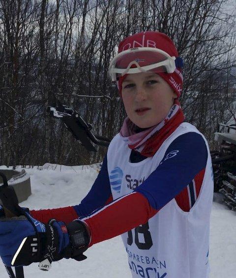 Andreas Sagnes Jørgensen G12 vant førjulsrennet i Bardufoss 22/12. Det var 19 deltagere i klassen.