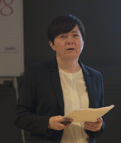 Økonomisjef: Anne Erdal la fram budsjett.
