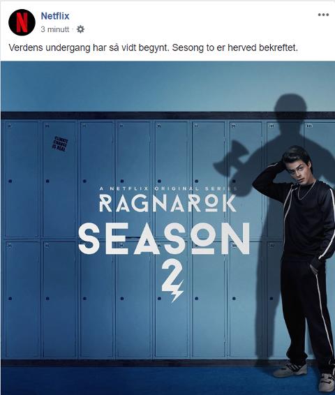 Netflix publiserte dette onsdag ettermiddag. Skjermdump: Netflix.