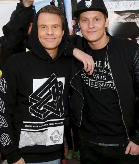"""Morgan Sulele og Petter """"Katastrofe"""" Kristiansen er klare for neste års Idyllfestival."""