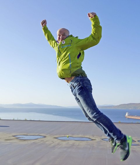 FANTASTISK: Daglig leder for turistforeningen i Narvik, Jon Sommerseth registrerer at  Foto: Fritz Hansen
