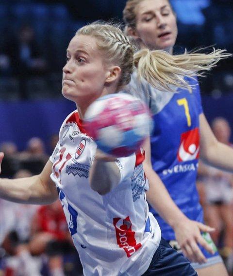 SCORET SEKS: Marit Røsberg Jacobsen, håndballandslagsspiller fra Narvik.