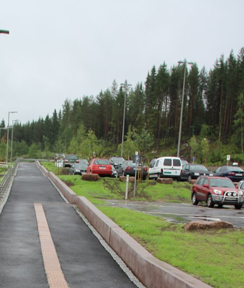 Furumo holdeplass ferdig stoppested Gjøvikbanen Harestua