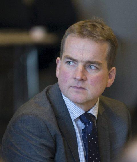 FORNØYD: Sveinung Stensland (H).