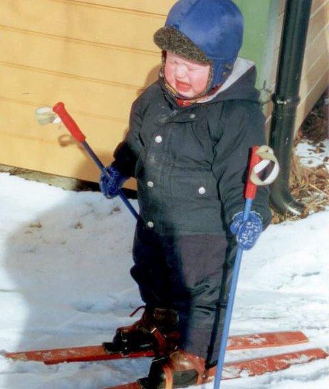 INGEN BARNESTJERNE: Johannes Dale var langt fra noen barnestjerne. Tvert imot; å gå på ski var noen ganger til å grine av.