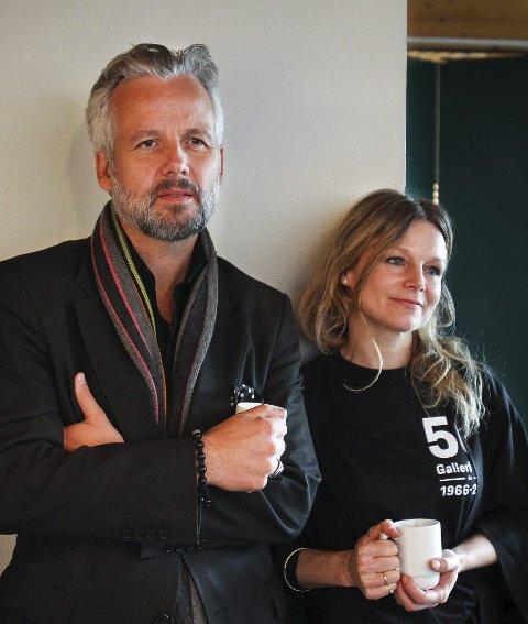 Hjemmebesøk: Ari Behn og søsteren Anja Bjørshol.