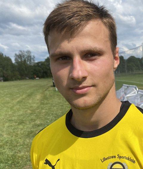 MATCHVINNER: Uranik Seferi scoret sitt første LSK-mål i treningskampen mot Sarpsborg 08. FOTO: MORTEN SVESENGEN