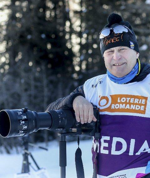 JOURNALIST: Under U23-VM er Kjell-Erik ikke speaker, men fotograf og journalist.