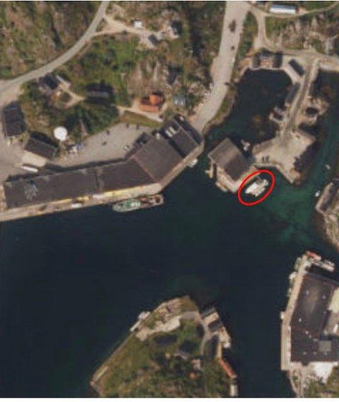 FLYTEBRYGGE: Den røde ringen viser området det søkes om dispensasjon for.