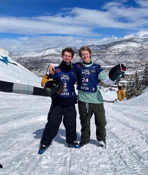 VM: Sebastian Schjerve og Birk Ruud kvalifiserte seg begge til tirsdagens big air-finale. Sistnevnte har imidlertid reist heim, etter meldinga om at tilstanden til hans kreftsyke far har forverret seg.