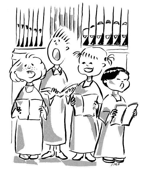 Jevnaker barnekor er medlem i Ung Kirkesang