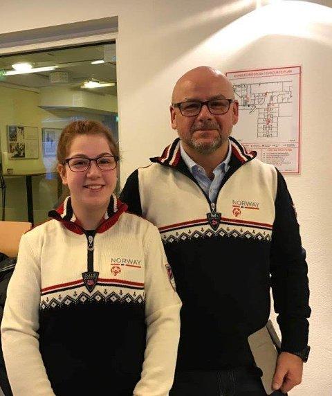 GLEDE: - Noen vinner sin kamp med medalje på brystet, andre vinner ved å gjennomføre noe de aldri har gjort før, sier Stål Rune Jensen, her sammen med datteren på Olympiatoppen.