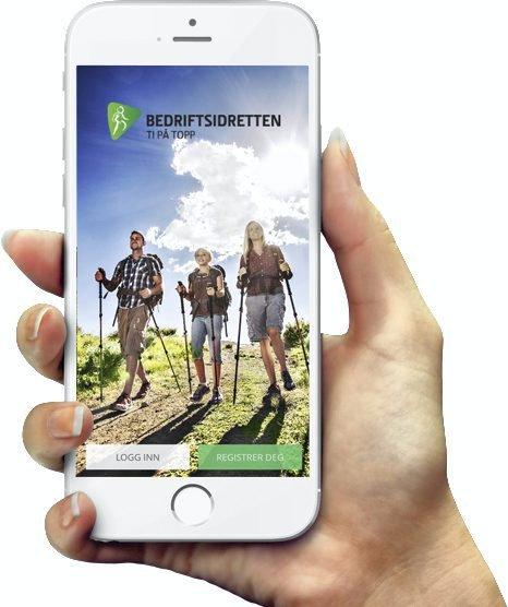EGEN APP: Østfold Bedriftsidrett kan tilby en egen app med turforslag.