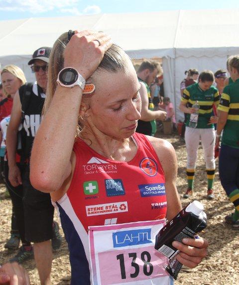 SPENNENDE OPPGAVE: Torsdag klokka 13.20 norsk tid løper Kamilla Olaussen ut for Norge på VM-stafetten.