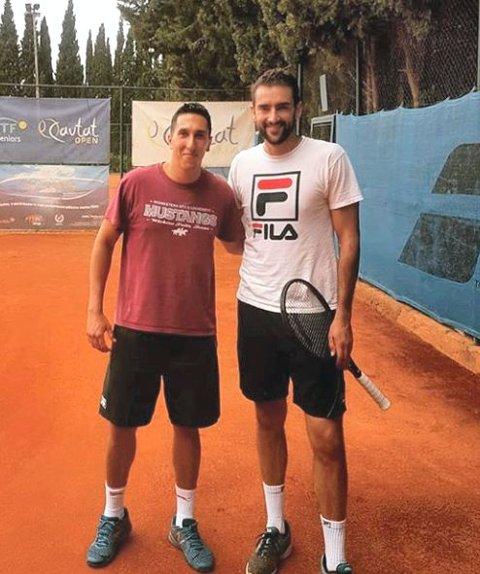 SPARRING: Mirko har blant annet sparret med verdens sjuendebeste spiller, Marin Čilićs.