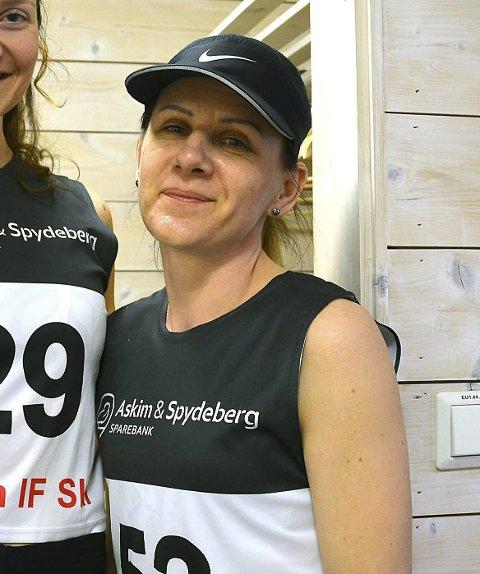 LEDER 2: Zuzanna Kostyra fra Hærland leder dameklassen i Mysentrippelen før dagens Høytorp opp.